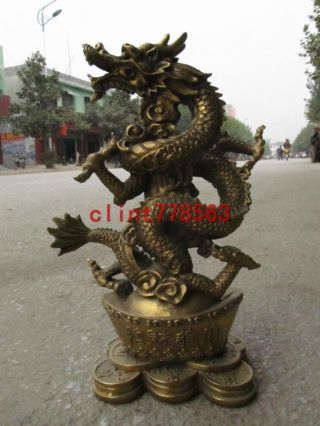 China Royal Brass Ingot Dragon Statuesn 1 photo