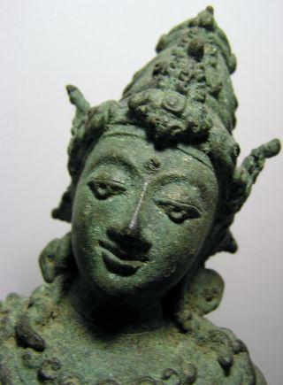 Large Javanese Bronze Goddess 13th - 14th Century photo