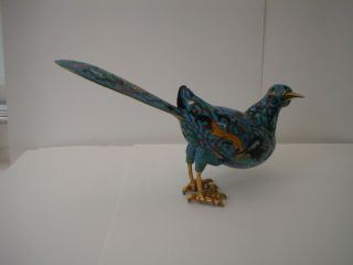Vintage Japanese Cloisonne Bird photo