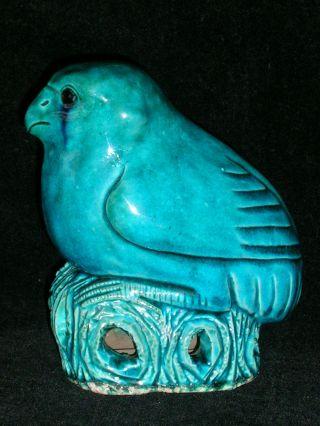 Antique Turquoise Glazed Chinese Porcelain Bird photo