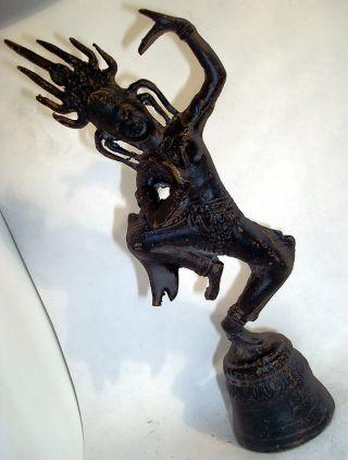 And Rare Dancing Bronze Apsara Statue,  Buddha,  Hindu From Angkor Wat photo