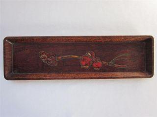 Japanese Vintage Wooden Sencha Tea Tray; Sencha - Bon/ Carving/ Daruma/ 988 photo