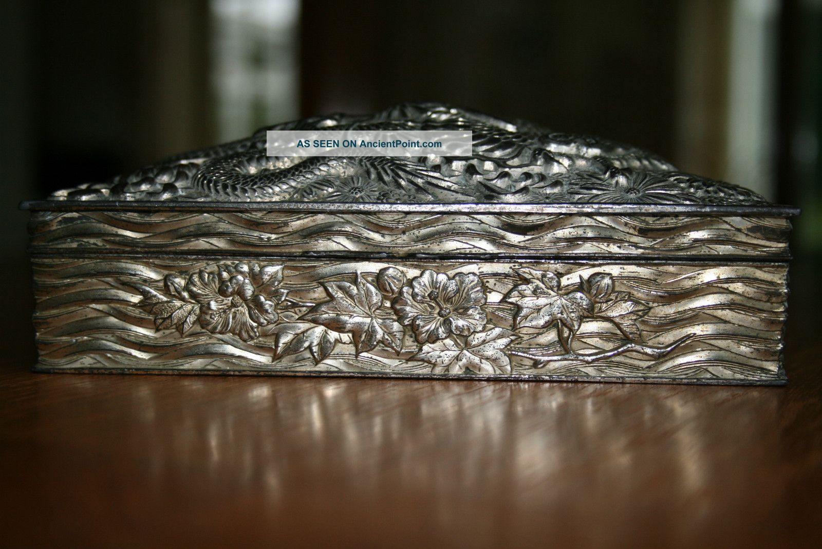 Silver Dragon Embossed Jewellery Box Lining Boxes photo