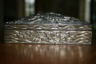 Silver Dragon Embossed Jewellery Box Lining photo
