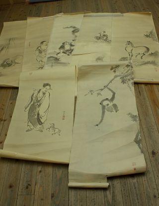 Jiku944 Jj Japan Scroll Kano School Makuri 7p photo