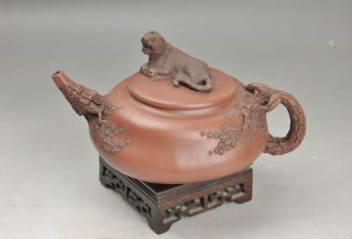 Antique 19th Century Chinese Yixing Teapot Relief