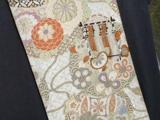 Japanese Kimono Maru Obi Reversible Fine photo