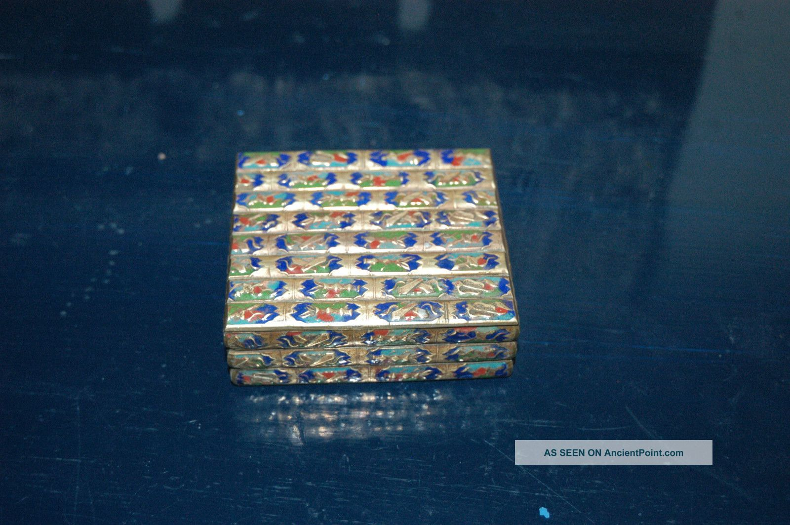 Antique Chinese ChamplevÉ Brass Box 1900 - 1920 Boxes photo