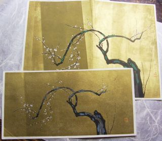 Japanese Woodblock Print,  Same Tree Twice photo