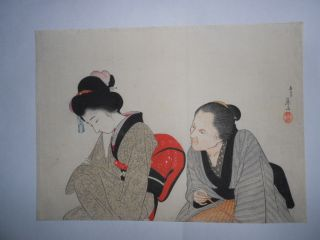 A Japanese Print by Eisen Tomioka photo