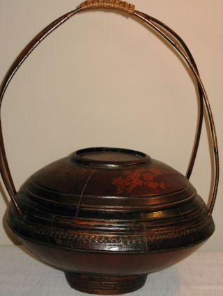 Vintage Chinese Rice Basket photo