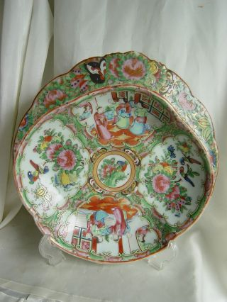 19th Chinese Export Porcelain Familie Rose Medallions Bowl With Collar photo