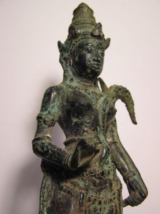 Large Javanese Bronze Of Dewi Sri 15th Century photo