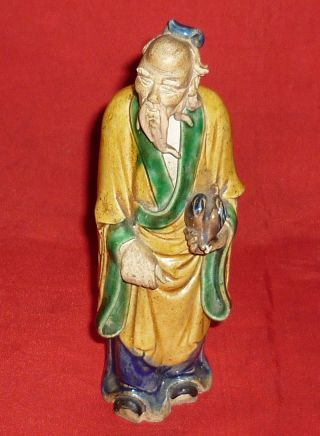 Vintage Japanese Terracotta Old Monk