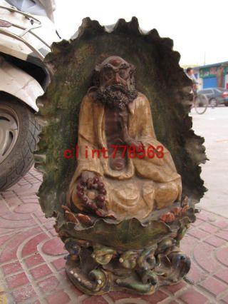 Chinese Buddhism Porcelain Dharma Arhat Buddha photo