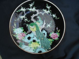 Antique Japanese Peacock Charger - photo