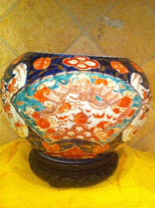 Antique Imari Planter photo