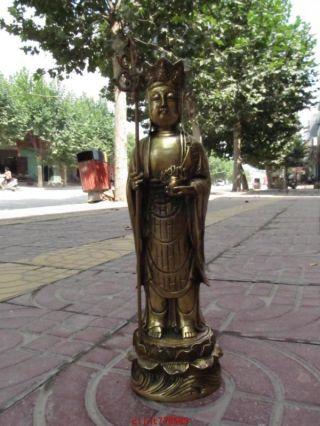 Tibet Fane Brass Ksitigarbha Jizo Buddha Statue 1 photo