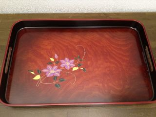 155 ~tessen Clematis Tea Tray~ Japanese Traditional Item photo