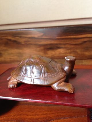166 ~a Turtle Ornament~ Japanese Antique Item photo