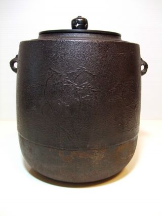 Hamamatsu - Wabi Sabi Japanese Tea Pot Kama Furo Chagama Tetsubin Box Art photo