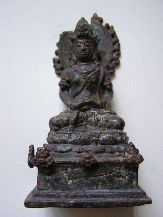 Very Rare Javanese Bronze Manjusri 10th - 11th Century photo