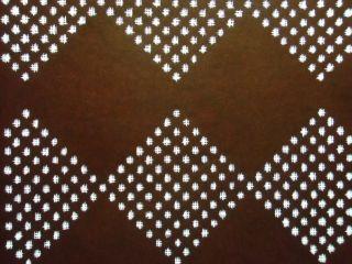 S187 Japanese Katagami Unframed Kimono Stencilsquare Diamond Lattice photo