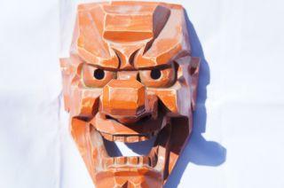 Tengu Mask Big Nose Demon Devil Japanese Tattoo Art Wall Decor Buddhist photo