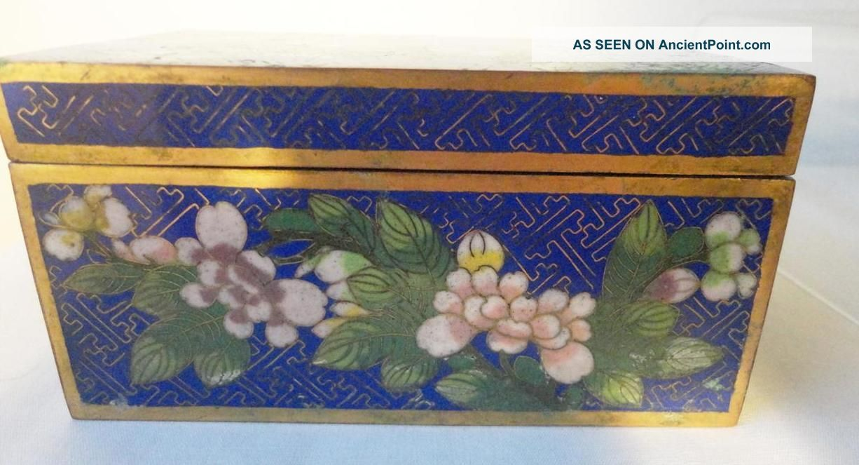Vintage Chinese Cloisonne Box - Marked China - 1920 ' S Boxes photo