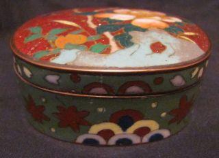 Fine Japanese Meiji Period Ginbari Cloisonne Box photo