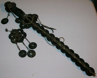 Antique 19thc.  Chinese Sword Made Of Bronze Coins - - V.  Good Condition photo