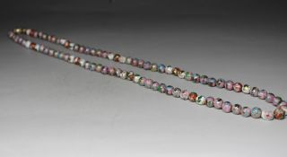 Chinese Handwork Cloisonne Pearl Old Pendant Necklace photo