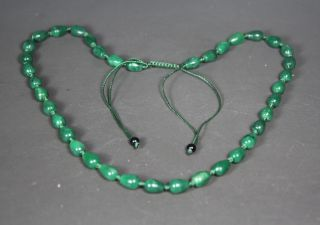 Chinese Handwork Old Jade Necklace photo