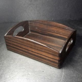 F442: Japanese Wooden Tobacco Tray Tabako - Bon Made From Popular Ebony photo