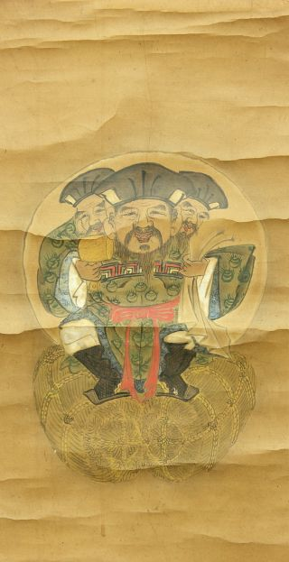 Jiku909 Jc Japan Scroll Sanmen - Daikoku photo
