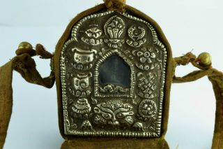 - China Collectibles Old Tibet Cloth Copper Buddha Exorcism Statue photo