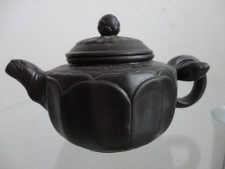 Chinese Yixing Zisha Teapot Deep Purple Lotus Shape Exquisite 11 photo