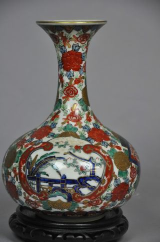 A Japanese Wucai Enameled Porcelain Vase photo