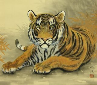 Jiku978 Jt Japan Scroll Tiger photo