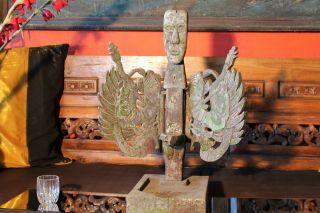 Primitive Art Winged Oil Lamp Indonesian photo