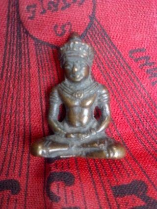 Antique Statue Angkor Wat Style Amulet Pendant Nr photo