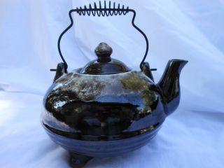 Old Japanese Hand Made Tea Pot (good Detail) photo