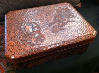 Antique Japanese Lacquered Theater Box photo
