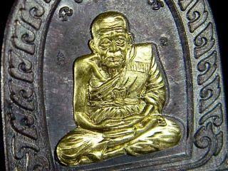 Real Temple Holy Lp Tuad Wat Bowonniwet Wihan Sacred Buddha Thai Coin Amulet photo