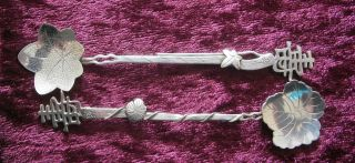 Good Pair Of Antique Chinese Export Silver Spoons - photo