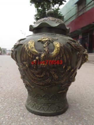 China Imperial Family Favorites Classic Phoenix Foo Dog Lion Statues photo