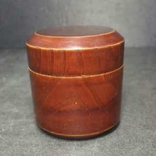 F434: Japanese Lacquer Ware Powdered Tea Container Fubuki - Natsume photo