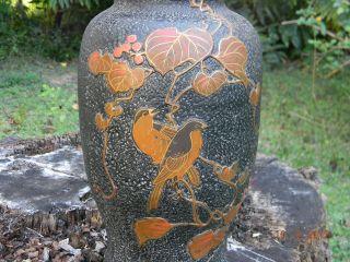 1920 ' S Japanese Bronze/cloisonne Pottery Vase photo