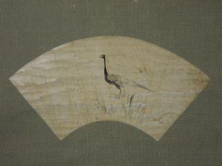 400 Japanese Jiku Kakejiku Hanging Scroll Japan art A Sector Pheasant photo