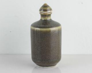 Antique Snuff Bottle,  Asian Chinese Glaze Color Old Porcelain Snuff Bottle photo